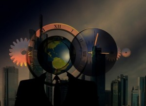 Skyline-Globe-Clock-Gears-Public-Domain-460x333