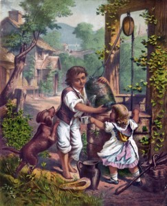 children-at-well-painting